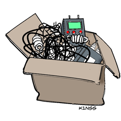 [graphic of assorted ham gear in box]
